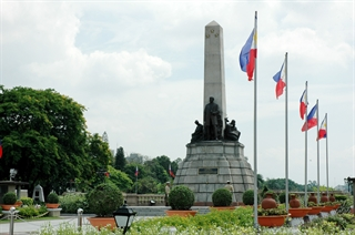 The Rizal Monument in Manila.